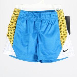 NIKE Boys 12 mo Blue Yellow Black Shorts New